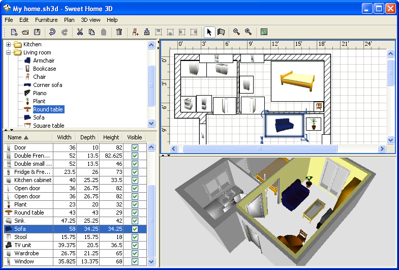 Sweet home 3d download bg 3d home builder software